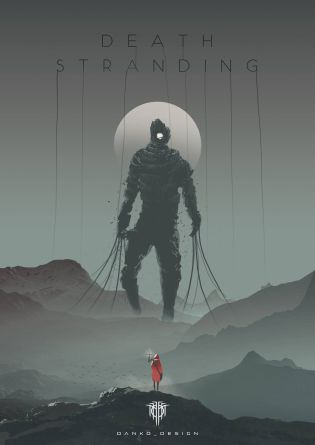 death stranding artwork gigante