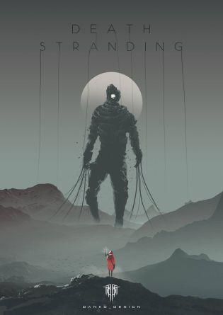 death stranding artwork gigante